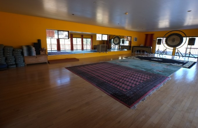 1,000 sq ft practice room for yoga, meditation, movement, and music